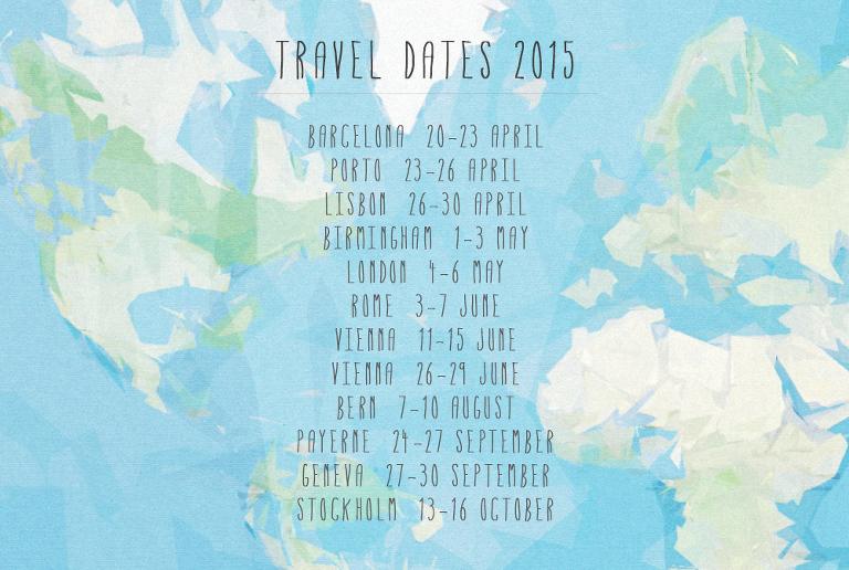 Travel Dates 2015