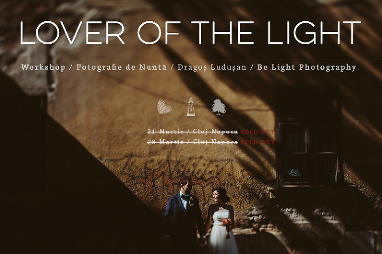 Lover of the light - wedding photography workshop